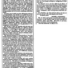 Daniel O'Connell MP Letter re State of Ireland  1846   Newry Examiner | Irish Newspaper Archives