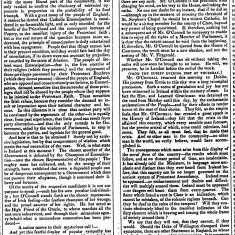 Daniel O'Connell MP.  Letter re State of Ireland - 1846 -  Newry Examiner | British Library