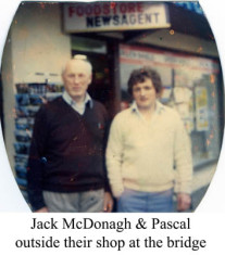 Jack and Pascal McDonagh outside their shop