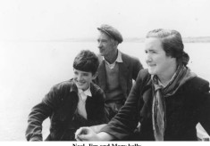 Noel, Jim and Mary Kelly, on Lough Corrib
