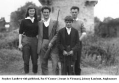 Stephen Lambert with girlfriend and Pat O'Connor. Johnny Lambert