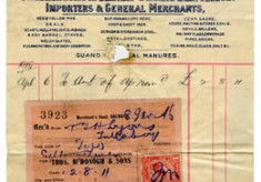 Shop receipt Thomas McDonagh 1915. Thomas Lyons, Tullaboy