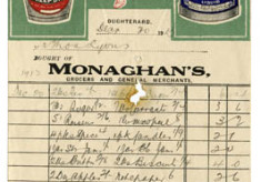Shop receipt Monaghan's 1913. Thomas Lyons, Tullaboy