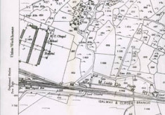 Map 1898. Detail, Oughterard Poor law Union Workhouse