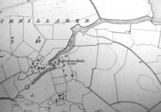 Map c.1800. Detail, Aughnanure