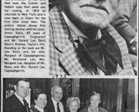 Press cutting 1973. John Mons, 92. Glann