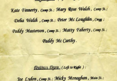Oughterard Mayfly Market. Names of the children in the postcard