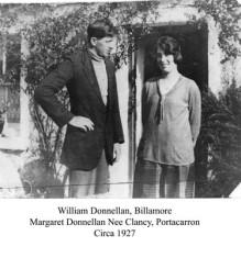 William and Margaret Donnellan c.1927