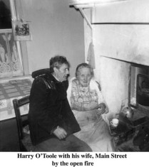 Harry O'Toole and his wife, Main Street, Oughterard