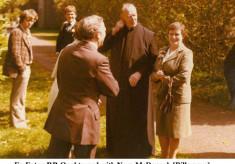 Fr. Eaton, P.P. Oughterard, with Nora McDonagh, Billamore