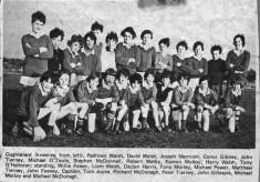 Press cutting c.1980. Oughterard Football team