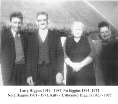Larry Higgins, Pat Higgins, Nora Higgins, Kitty Higgins
