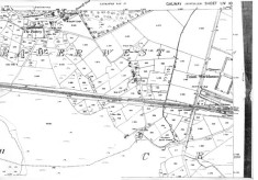 Map 1898. Detail, Canrawer West, railway line, Workhouse