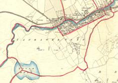 Townland map Canrawar, Oughterard c.1859
