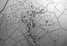 Map c.1800. Detail, Barn Hill