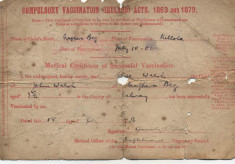 Compulsory Vaccination Certificate 1906