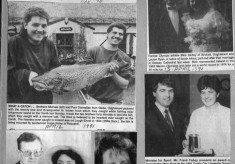 Press cutting 1991. Mick Molloy, Mary Kyne, Michael and Paul Donnellan