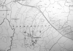 Map c.1800. Detail, Laghtgannon