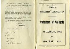 Corrib Fisheries Ass. accounts 1926