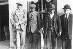 Fishermen at Angler's Hotel, Main Street, Oughterard