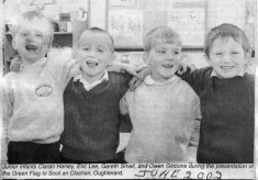 Press cutting 2002. School green flag presentation