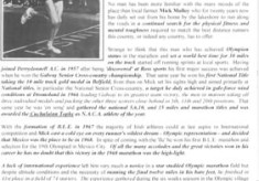Oughterard Newsletter. Mick Molloy, Oughterard's marathon man