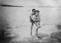 Stephen Lambert and john O'Halloran, at the pier Oughterard