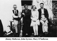 Jimmie O'Halloran, John Byrne and Mary O'Halloran