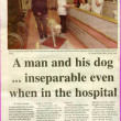Press cutting 2001. Danny O'Neill and his guide dog Verdi