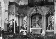 Interior of The immaculate Conception Parish church, Oughterard