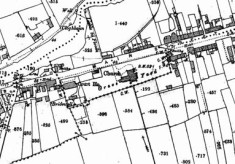 Map 1898. Detail, Bridge Street Oughterard
