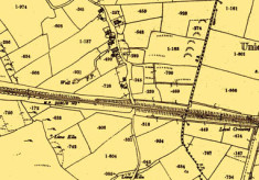 Map 1890. Detail, railway line