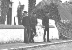 R.I.C. Officers, at Door of Barracks, Camp Street, Oughterard