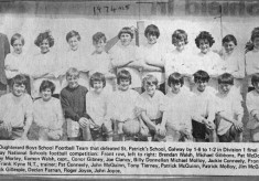 Press cutting 1974. Oughterard Boys School Football Team