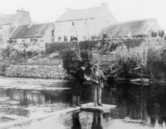 Fishing at the bridge, Oughterard