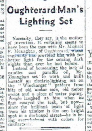 Article from the Connacht tribune. Saturday, August 16, 1941 | Thomas J Monahan Sr.