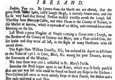 Loss of life on the ice covered Lough - January 1739