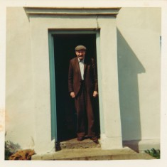 Ellen's father, Edward Thornton at the front door of their home in Claremount. 1975 | Paul Finnegan