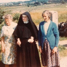 Marry Conneely on the left and Mary Thornton on the right. The nun is believed to be Mary Thornton's sister | Paul Finnegan