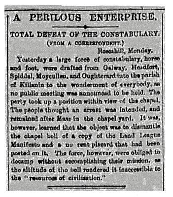 Freemans Journal,  Tuesday, November 1881