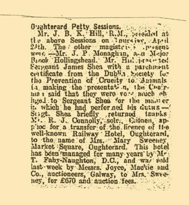 Thomas Naughton, otherwise Thomas Fahy Naughton, Anglers Hotel, Oughterard