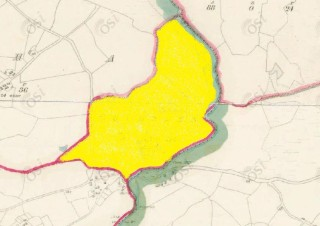 Townland of Drimneen highlighted in yellow
