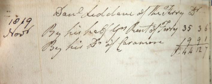 Ferry Rental. 1819
