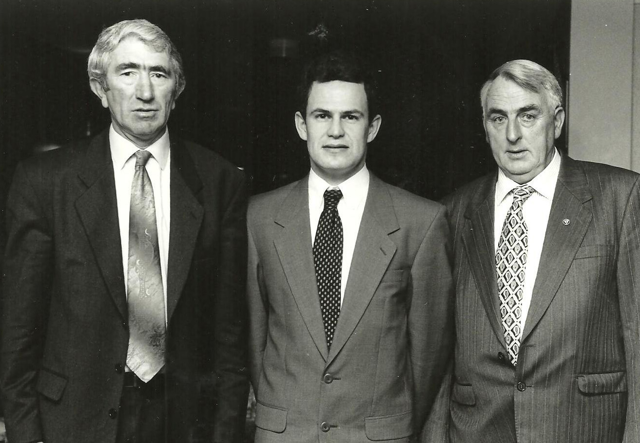 memories of frank o halloran people oughterard heritage l to r pat o connor secretary gerry gibbons treasurer frank o halloran chairman