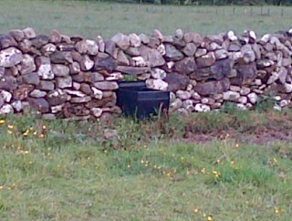 Sheep creep in Maghera being used to house a water trough