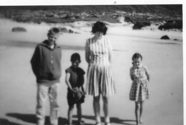 The Cleggett family with Jim Critchley. L-R: Jim Critchley, Leo, Alice & Jacqueline Cleggett.