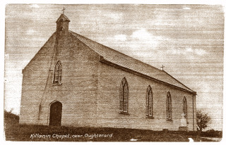 Killannin church, built by Rev.Thomas Ryan PP in 1840 in the townland of Garrynagry. The church is on an old fort known as