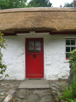 Fronf door of the Mayfly Cottage