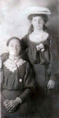 Maria Naughton (née Geoghegan) with Mary Kate Walsh (née Naughton)