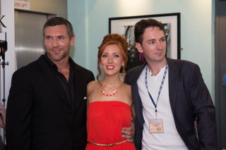 Killeen, Amy-Joyce Hastings and Graham Cantwell at the world premiere of The Callback Queen at the 25th Galway Film Fleadh.